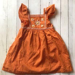 Gymboree 2T Toddler Girl Sleeveless Orange Dress